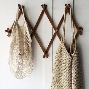 Handbags - French Cotton Market Net Tote/Bag/Lt Natural/Short